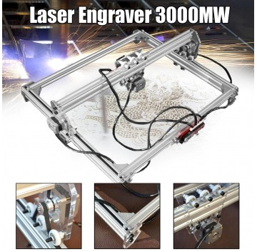 50X65cm Mini 3000MW Blue CNC Laser Engraving Machine 2Axis DC 12V DIY Engraver Desktop Wood Router/Cutter/Printer+ Laser